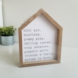 Interchangeable Wood sign from Target